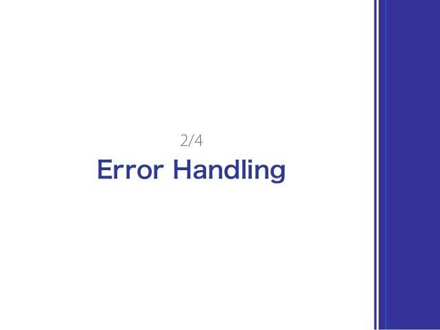 Error Handling 2/4