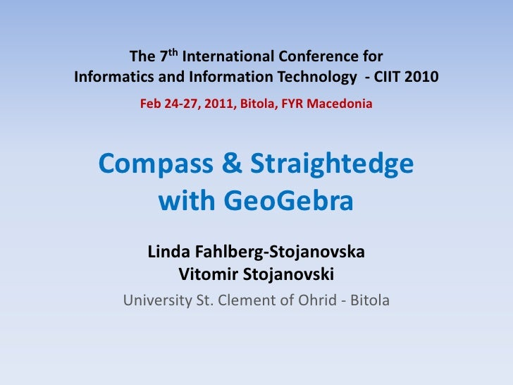 The 7th International Conference for Informatics and Information Technology  - CIIT 2010<br />Feb 24-27, 2011, Bitola, FYR...