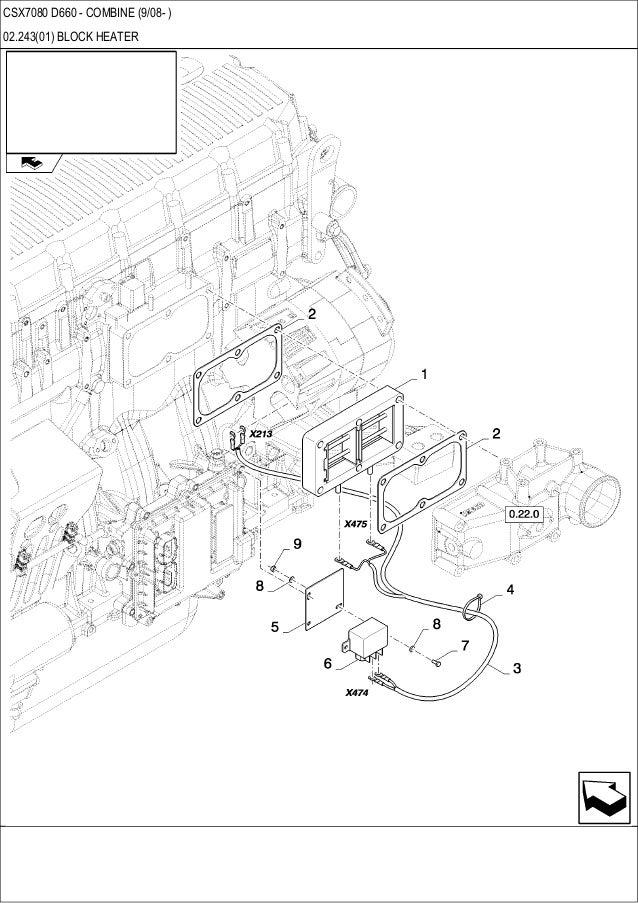 New Holland Csx 7080 D660 Combine Parts Catalog
