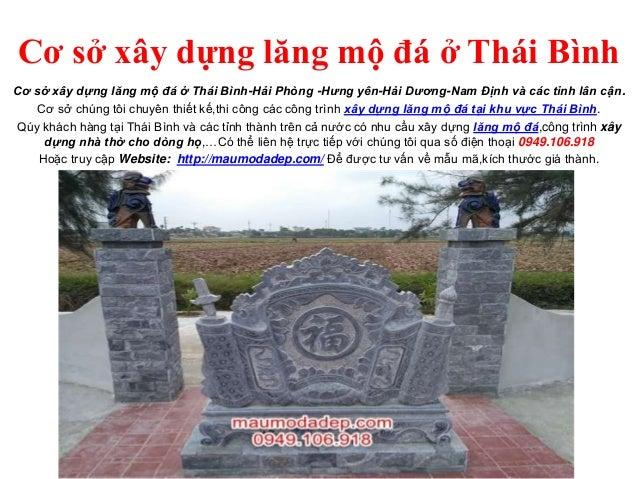 Cơ sở xây dựng lăng mộ đá ở Thái Bình Cơ sở xây dựng lăng mộ đá ở Thái Bình-Hải Phòng -Hưng yên-Hải Dương-Nam Định và các ...
