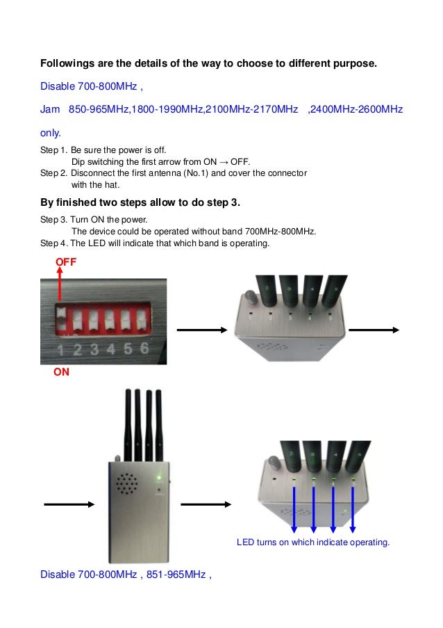 Ct-1055 5 band handheld jammer user manual by http://www jammers4u com