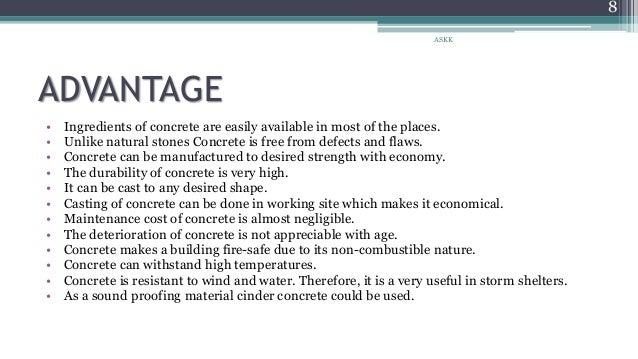 Concrete Advantages History Future Trends