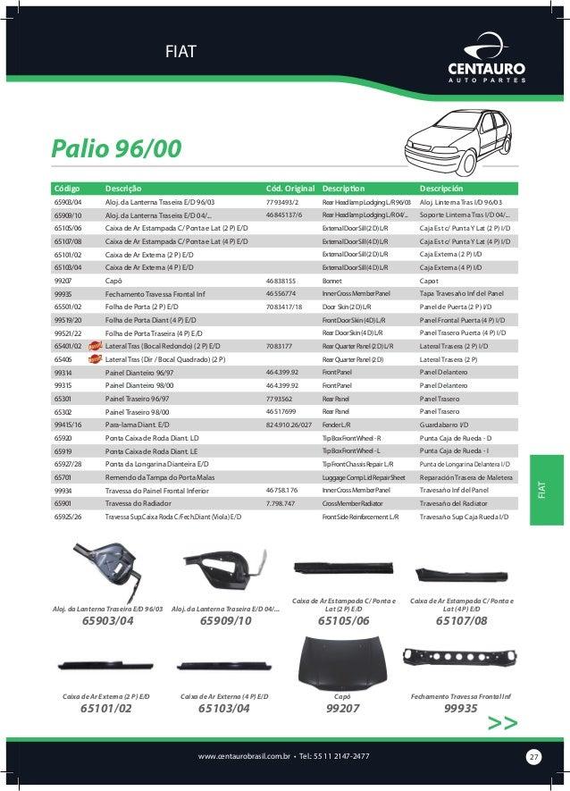 FIAT  Palio 96/00 >> Folha de Porta (2 P) E/D  Folha de Porta Diant (4 P) E/D  Folha de Porta Traseira (4 P) E/D  Lateral ...