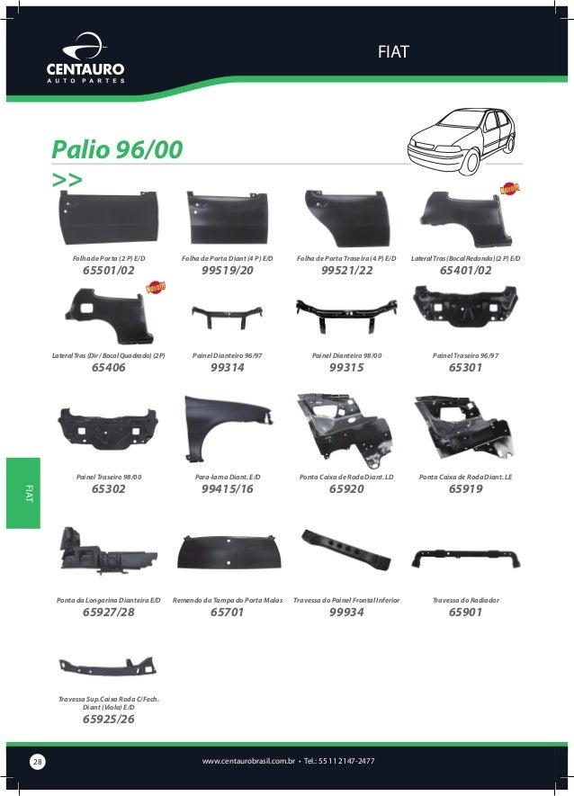 FIAT  Palio 00/03 (Fire) Código  Descrição  65105/06 65107/08  Cód. Original Description  Caixa de Ar Estampada C/ Ponta e...