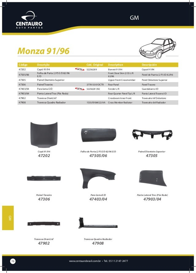 GM  Opala/Caravan Código  Descrição  45909  Cód. Original  Description  Descripción  Bacia da Caixa de Estepe  Spare Tire ...