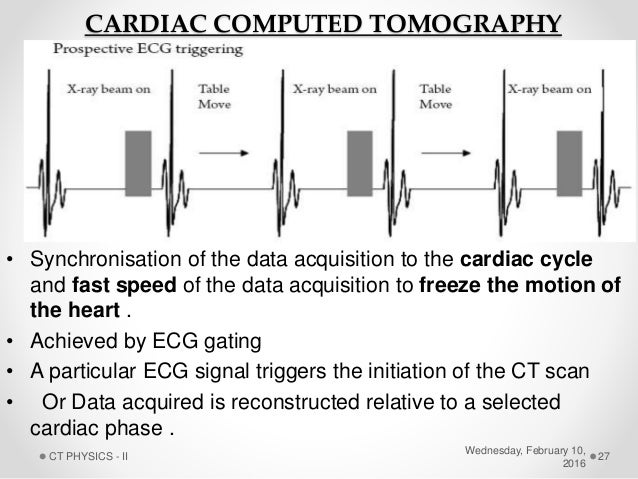 Computed Tomography Data Acquisition : Ct physics ii