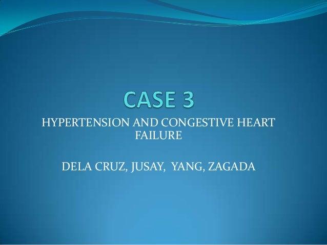 HYPERTENSION AND CONGESTIVE HEART FAILURE DELA CRUZ, JUSAY, YANG, ZAGADA