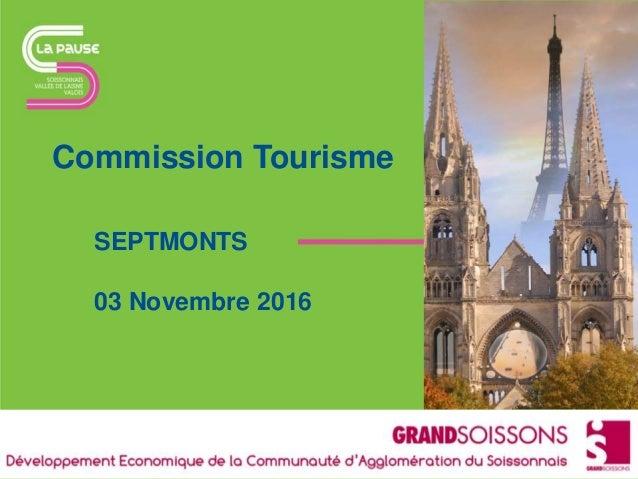 Commission Tourisme SEPTMONTS 03 Novembre 2016