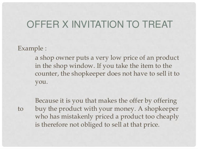 Ct 1 offer x invitation to treat stopboris Choice Image