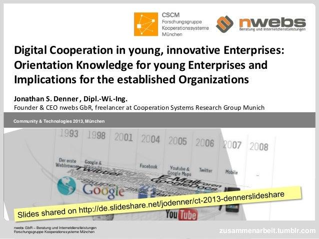 nwebs GbR – Beratung und Internetdienstleistungen Forschungsgruppe Kooperationssysteme München Community & Technologies 20...