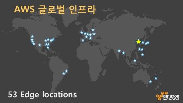 53 Edge locations AWS 글로벌 인프라