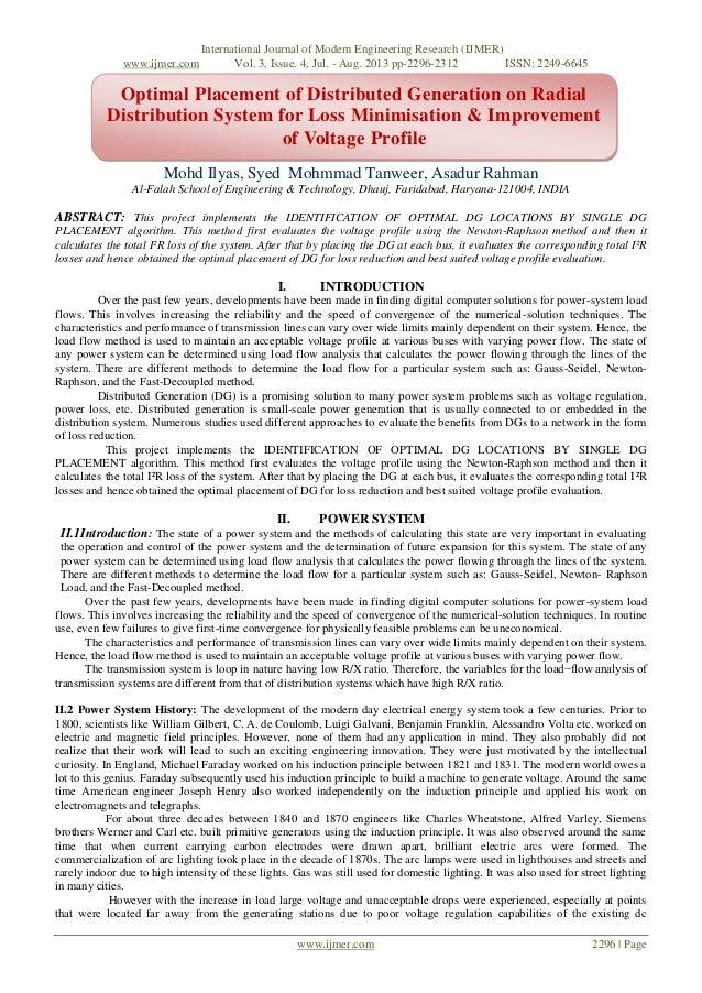International Journal of Modern Engineering Research (IJMER) www.ijmer.com Vol. 3, Issue. 4, Jul. - Aug. 2013 pp-2296-2312...