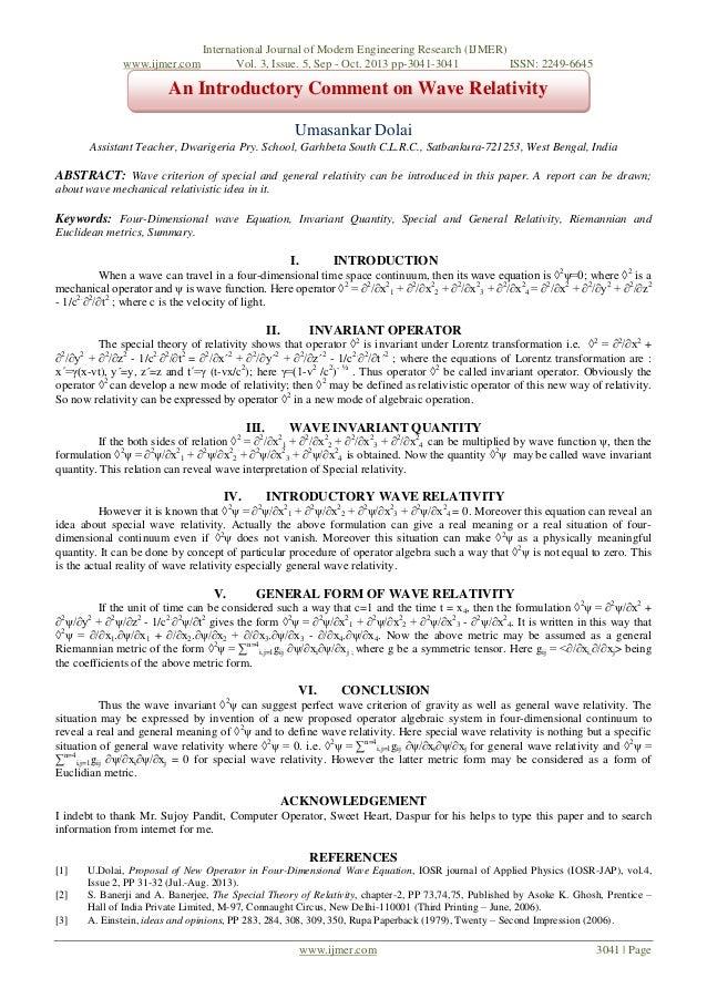 www.ijmer.com  International Journal of Modern Engineering Research (IJMER) Vol. 3, Issue. 5, Sep - Oct. 2013 pp-3041-3041...