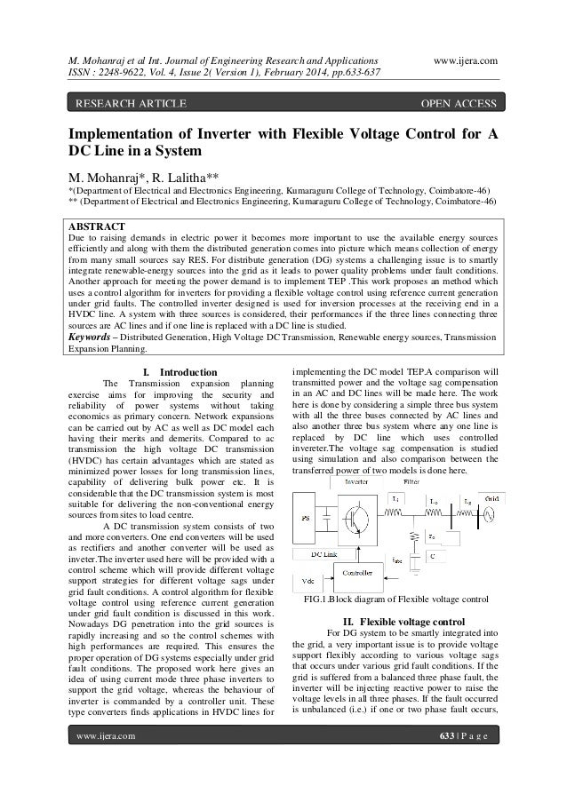 M. Mohanraj et al Int. Journal of Engineering Research and Applications ISSN : 2248-9622, Vol. 4, Issue 2( Version 1), Feb...