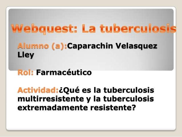 ¿Qué es la Tuberculosis Multirresistente y latuberculosis extremadamente resistente?                        • Es casada po...