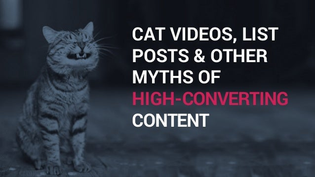 CAT VIDEOS, LIST POSTS & OTHER MYTHS OF HIGH-CONVERTING CONTENT
