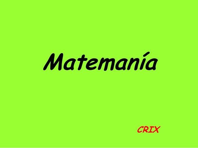 Matemanía CRIX