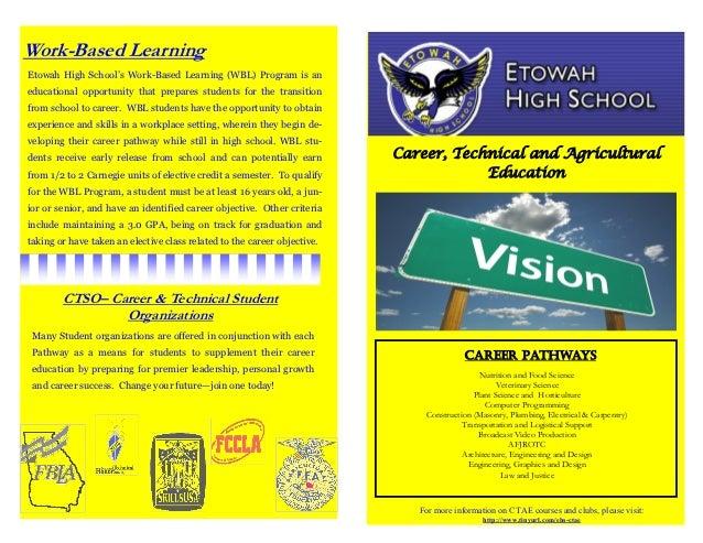 Work-Based LearningEtowah High School's Work-Based Learning (WBL) Program is aneducational opportunity that prepares stude...
