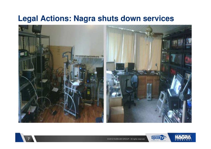 Legal Actions: Nagra shuts down services  7                   © 2012 KUDELSKI GROUP / All rights reserved.