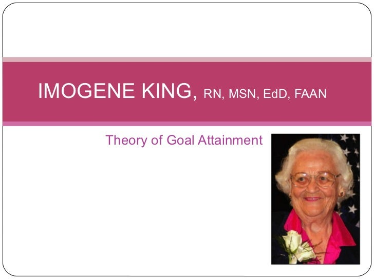 Kings theory of goal attainment in the clinical setting