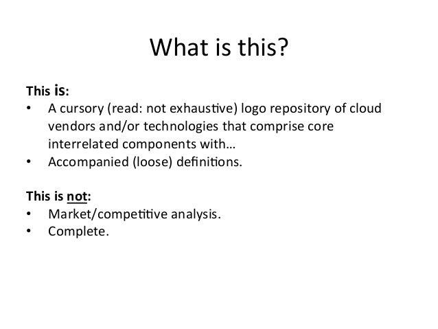Cloud Technology Ecosystems Slide 2
