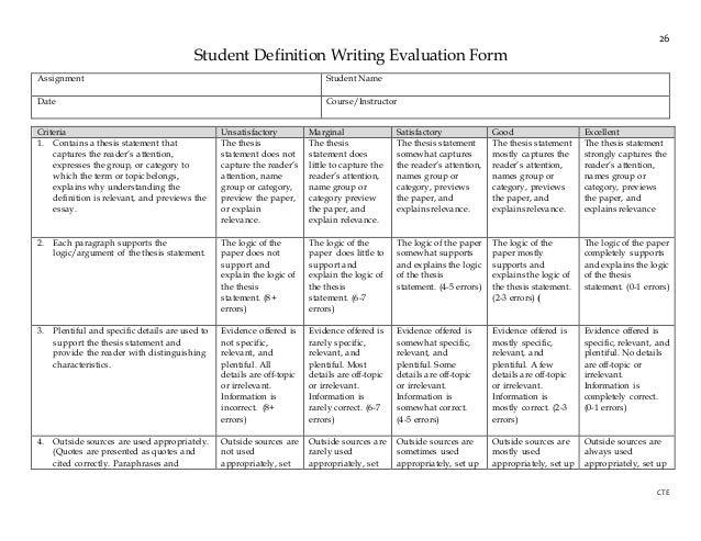 writing assessment pdf