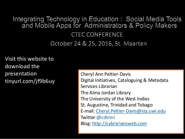 Social media tools for managers social media tools for managers cheryl ann peltier davis digital initiatives cataloguing metadata services librarian the alma jordan fandeluxe Images