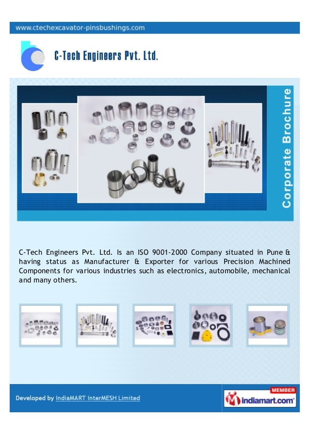 C-Tech Engineers Pvt. Ltd. Is an ISO 9001-2000 Company situated in Pune &having status as Manufacturer & Exporter for vari...