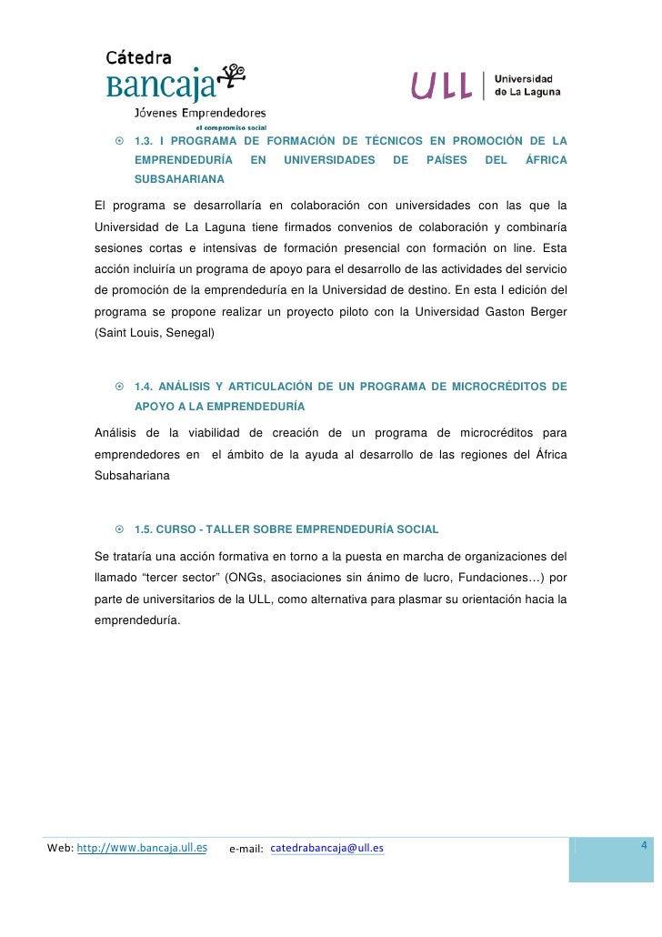  1.3. I PROGRAMA DE FORMACIÓN DE TÉCNICOS EN PROMOCIÓN DE LA                 EMPRENDEDURÍA        EN    UNIVERSIDADES    ...