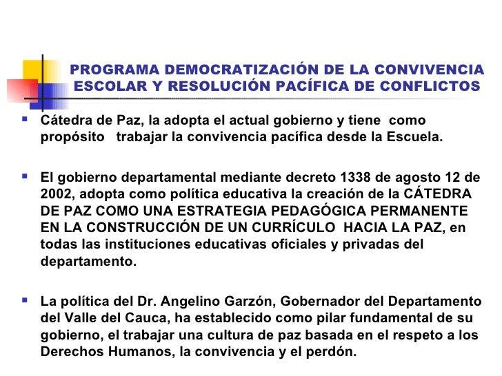 CÁtedra Por La Paz: CáTedra De Paz.Actualizado Nov 30 3