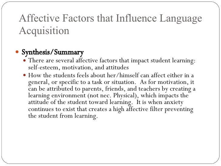 factors that affect student motivation essay Motivational factors in the esl classroom what does or does not positively affect their motivation to can influence student motivation and.