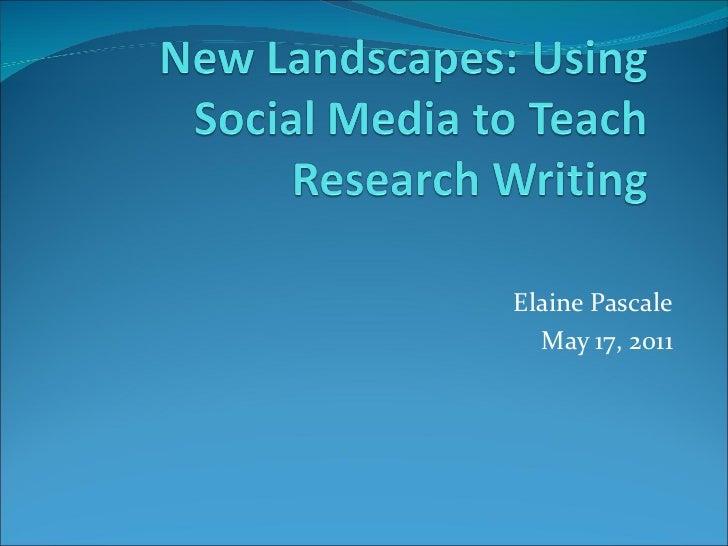Elaine Pascale May 17, 2011
