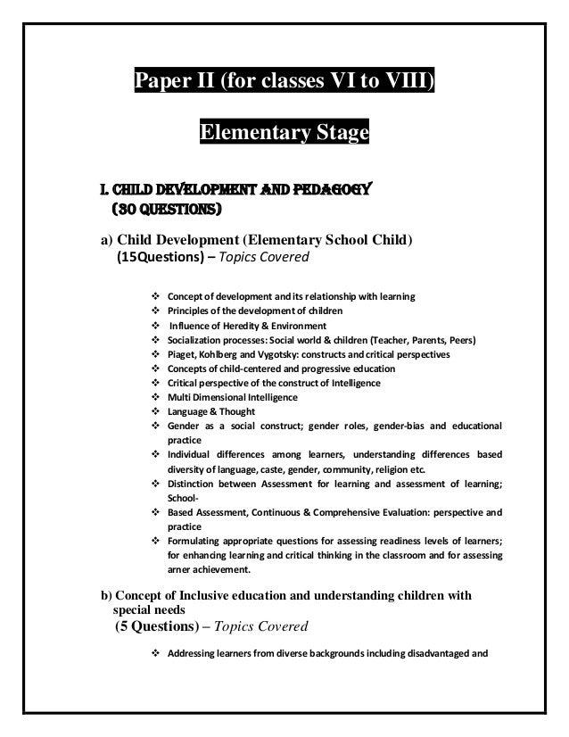Ctet Exam coaching in Delhi Janakpuri – Child Development Worksheets