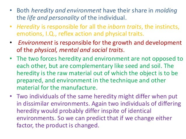role of heredity and environment in human development pdf
