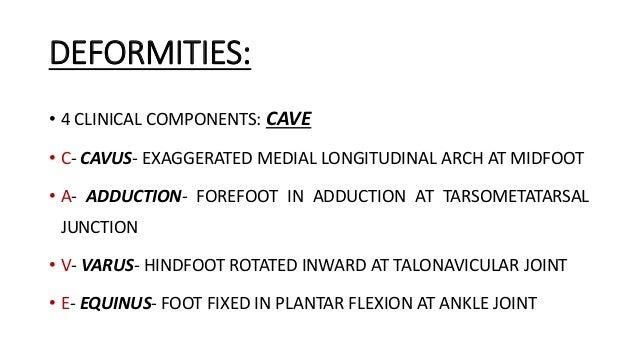 Congenital talipes equinovarus (club foot/ctev) ppt by Dr ...