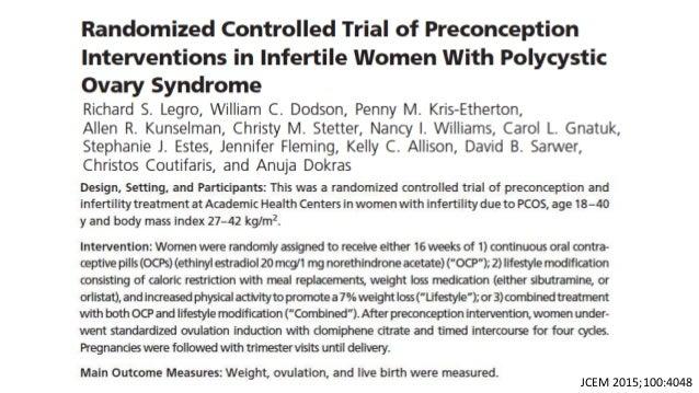Cambios en estilo de vida y Síndrome Ovario poliquistico