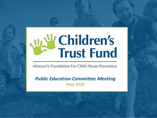 Public Education Committee Meeting May 2018