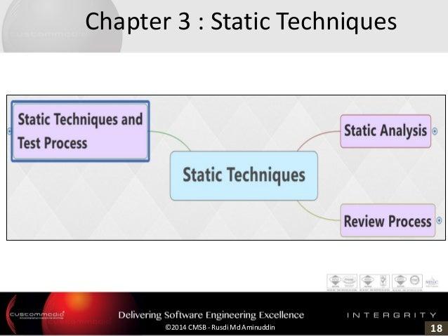 18©2014 CMSB - Rusdi Md Aminuddin Chapter 3 : Static Techniques