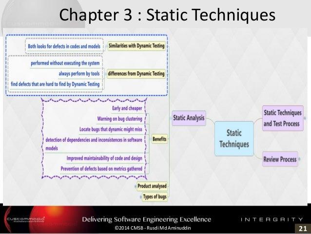 21©2014 CMSB - Rusdi Md Aminuddin Chapter 3 : Static Techniques