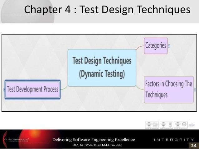 24©2014 CMSB - Rusdi Md Aminuddin Chapter 4 : Test Design Techniques