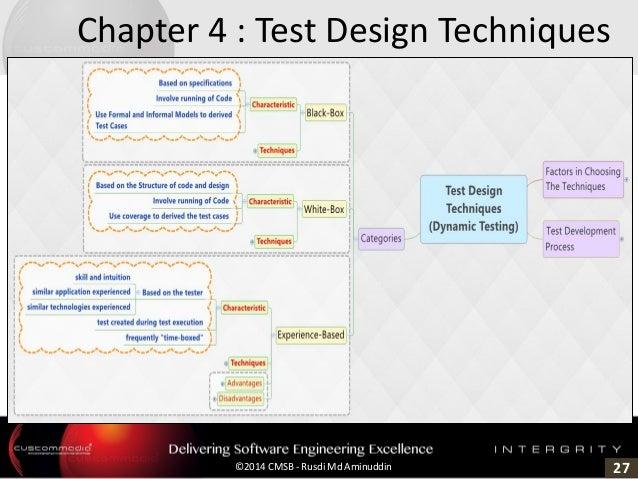27©2014 CMSB - Rusdi Md Aminuddin Chapter 4 : Test Design Techniques