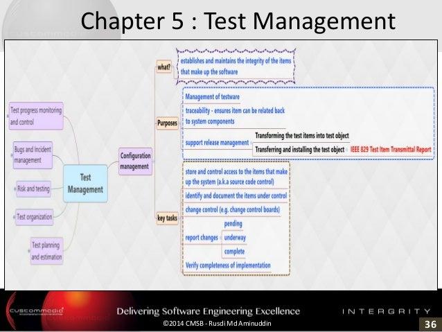 36©2014 CMSB - Rusdi Md Aminuddin Chapter 5 : Test Management