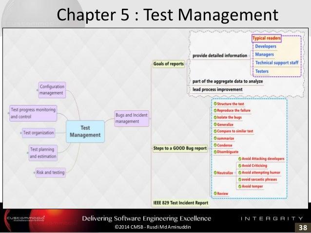 38©2014 CMSB - Rusdi Md Aminuddin Chapter 5 : Test Management