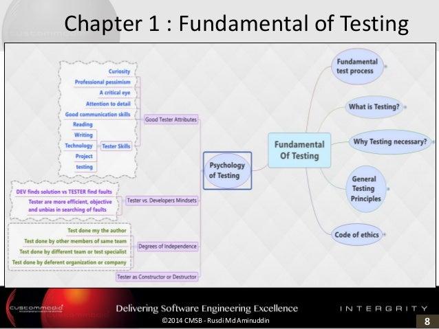8©2014 CMSB - Rusdi Md Aminuddin Chapter 1 : Fundamental of Testing
