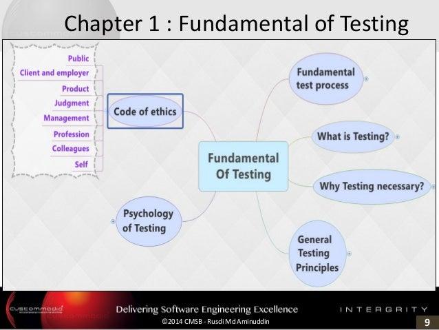 9©2014 CMSB - Rusdi Md Aminuddin Chapter 1 : Fundamental of Testing