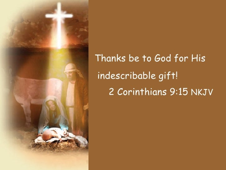 Celebrate the Gift of Jesus - Christmas presentation for congregation