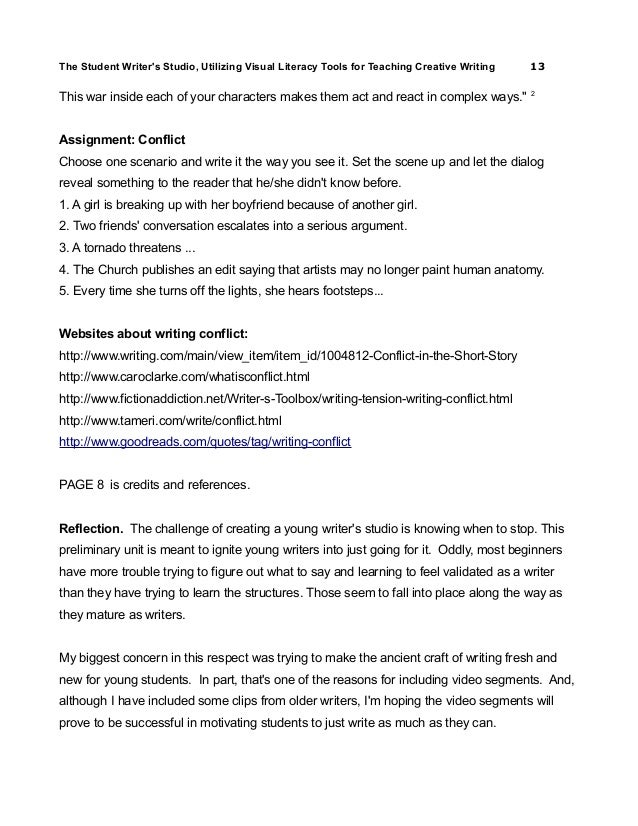 creative writing essay on conflict