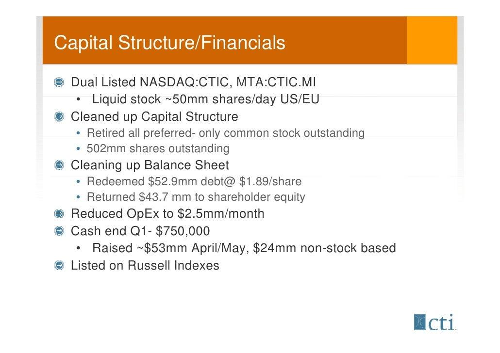 Ctic stock options