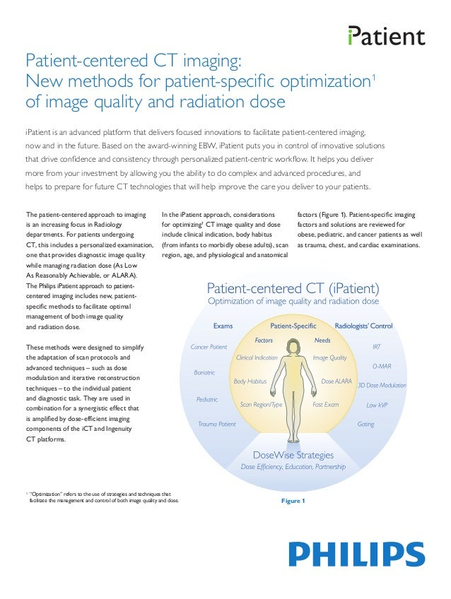 Patient-centered CT imaging:New methods for patient-specific optimization1of image quality and radiation doseiPatient is a...