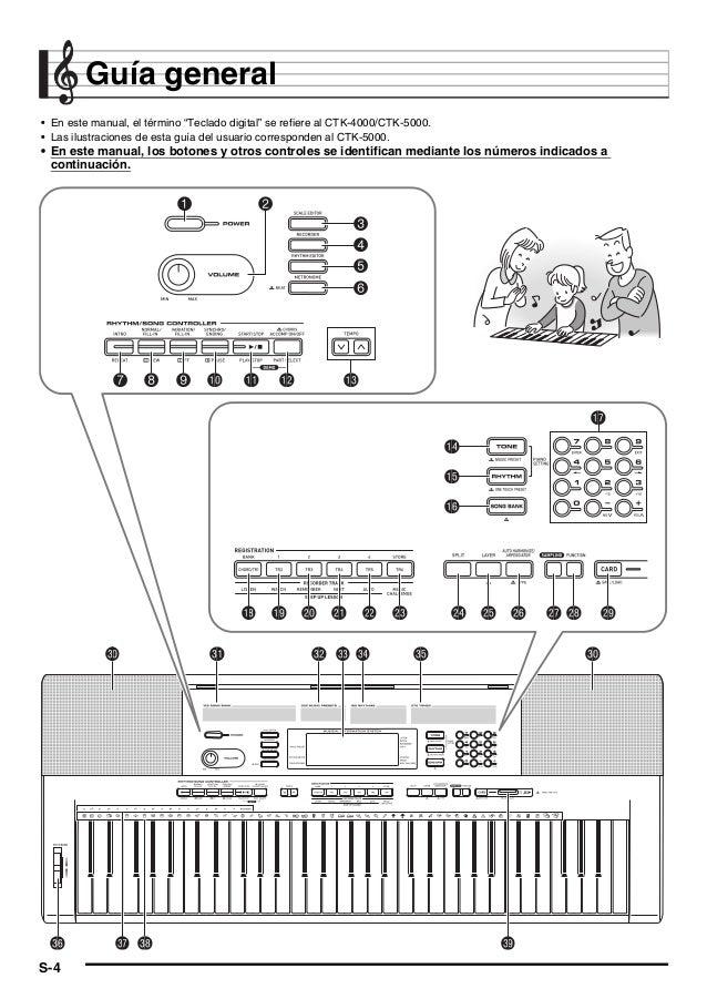 ctk4000 5000 es rh es slideshare net casio ctk 4000 service manual casio ctk 4000 manual pdf